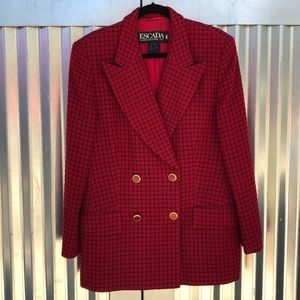 Escada tweed coat